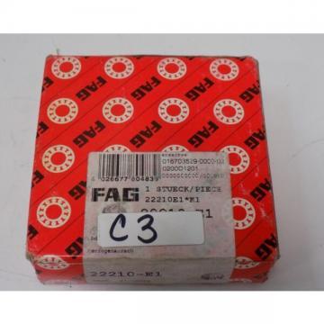 FAG SPHERICAL ROLLER BEARING 22210-E1 NIB