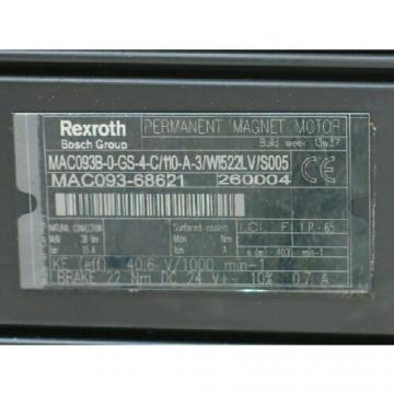 **NEW**BOSCH REXROTH MAC093B-0-GS-4-C/110-A-3/WI522LV/S005 AC SERV (RTS0388.455)