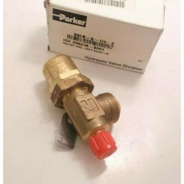 """PARKER 636B-3-1/4-2 Hydraulic Relief Valve (1/4"""" Inlet) - 4 GPM - Manual Op -"""