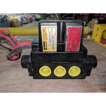 PARKER SS40105001 PNEUMATIC VALVE 20-150PSIG 120/60-110/50V/HZ 7.2W *USED*