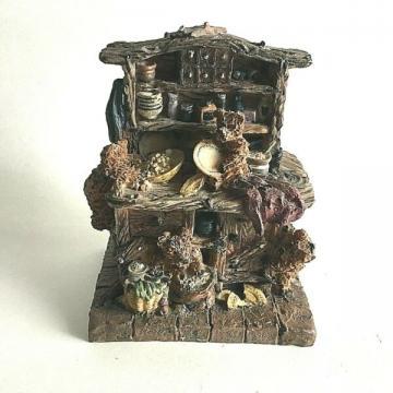 "Ceramic Figurine Whimsical Teddy Bears On Cupboard.5"" X 4"" X 3"" Tall Collectible"