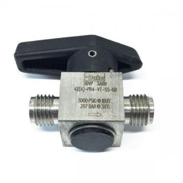 """Parker 1/4"""" Stainless Rotary Plug Valve 4A-PR4-VT-SS-GR (4Z-PR4-VT-SS-GR) NOS"""