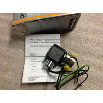 "Parker 1/4"" NPT 120 Volt Solenoid valve Cat. NO. 04F20C3118BD4C05"